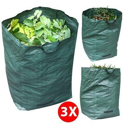 3x360L 30KG Garden Waste Bags Refuse Sacks Rubbish Recycling Bags with Handles