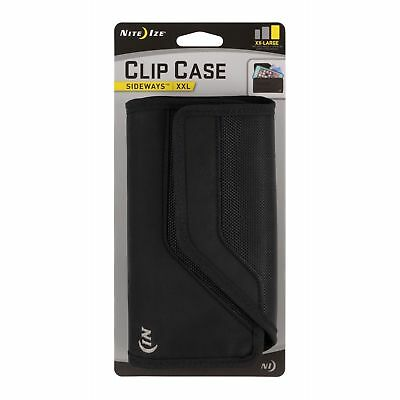 Nite Ize Clip Case Sideways Holster XX-Large Black Rugged Nylon Phone Case Pouch