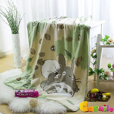 My Neighbor Totoro Oral Fleece Blanket Double Bath Towel Nap Blanket