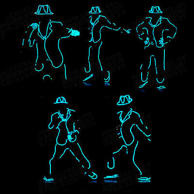 LED Neon EL Wire Tube Costumes Luminous Clothes Dancing DJ Stage Performance