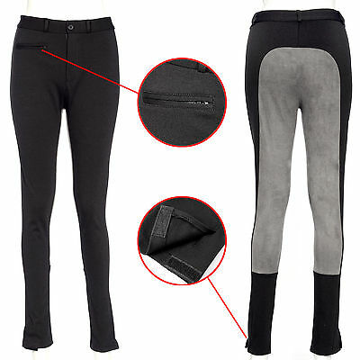 Two Tone Ladies Plain Jodhpurs Horse Riding Jodphurs Breeches All Sizes