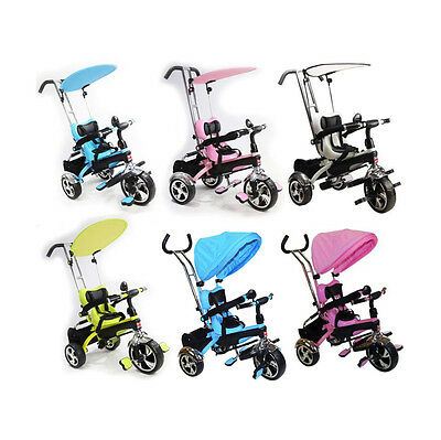 Kids Child Ride On Trike Tricycle 3 Wheel 4 In 1 Bike Parent Handle Baby