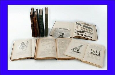 Set of 9 Antique Books about Microscopy. Germany, 19th Century