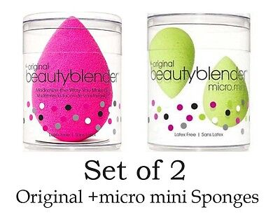 Beauty blender Original + Micro Mini Sponges Flawless Foundation Make Up Sponge