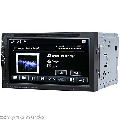"7"" Bluetooth Auto Radio Double Din 32GB Car DVD Player In-dash Stereo Video Mic"