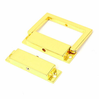 Suitcase Drawer Rectangle Shape Hasp Boxes Clasp Toggle Latch Gold Tone
