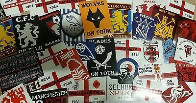 30x Random English Football Team Stickers - Various Clubs - Football Sticker Set