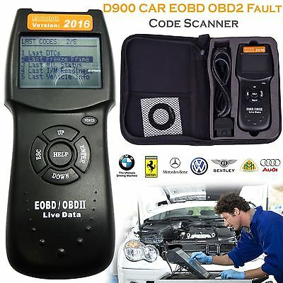 D900 Car Universal OBD2 EOBD CAN Fault Code Reader Scanner Diagnostic Scan Tool!