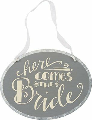 Primitives By Kathy Tin Sign, Here Comes the Bride, New, Free Shipping