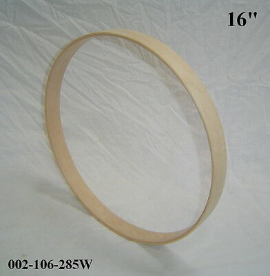 "16"" Maple Bass Drum Hoop/Ring/Rim (Rounded Front) Unfinished 002-106-285W"