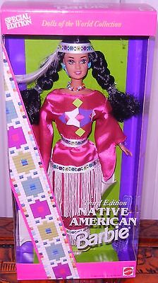 1994 Native American INDIAN BARBIE 3rd in Series DOLLS OF THE WORLD new NRFB