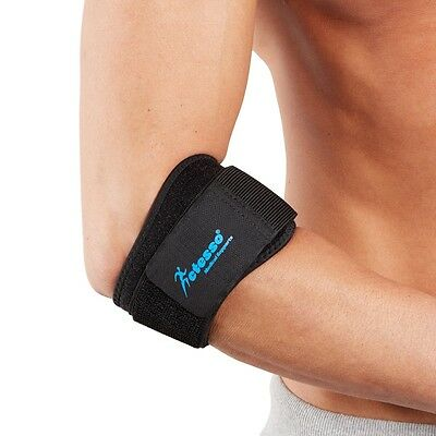 Black Tennis Elbow Support Strap Brace Pain Strain Pad Golfer Epicondylitis