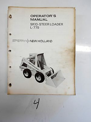 Sperry New Holland Skid Steer Loader Operator's Manual L-775 42657510 1973
