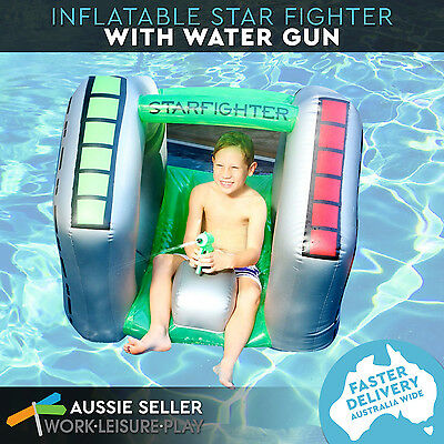 Inflatable Star Fighter With Water Gun Pool Toy 110x98x92cm
