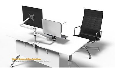 360º rotating height adjustable laptop & Monitor mount/stand/holder for desk/bed