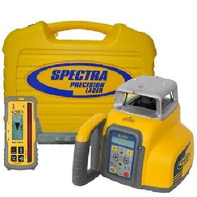 Spectra GL412 Single Slope Grade Laser with Vertical Alignment & CR600 Receiver