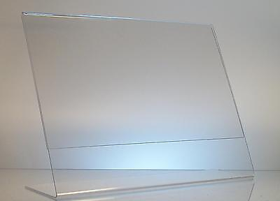 10 - Clear acrylic 11 x 8.5 sign display holder wholesale lot