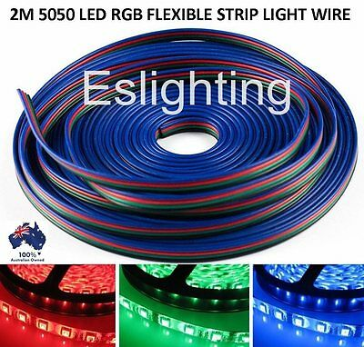 2M 4-Pin Rgb Led Strip Light Extension Connector Wire Cable Cord 5050 3528