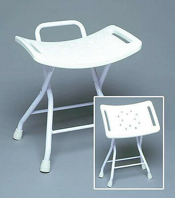 Medical Portable Shower Chair Folding Bathtub Seat with Handles and Drain Holes