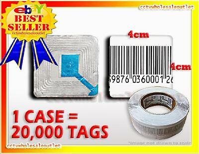 EAS CHECKPOINT BARCODE SOFT SENSOR LABEL TAG 8.2  4X4 cm CASE