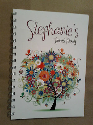 Personalised Travel diary Floral tree