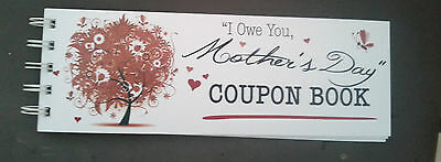 I OWE YOU, MOTHERS DAY COUPON BOOK red FLORAL TREE~ PERFECT GIFT!