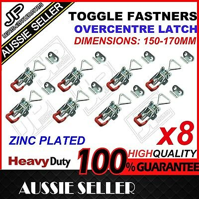 X8 Large Zinc Finish Toggle Latch Over Centre Fastner Tool Box,camper Trailer