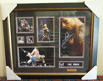 GENUINE - THE ROCK - WRESTLING PLAQUE no 71 - LIMITED EDITION RARE COLLECTIBLE