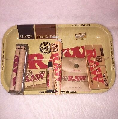 NEWLY REVISED RAW 7x11 Tray COMBO CONE+ RAW Rolling Machine +PAPERS+TIPS+LIGHTER