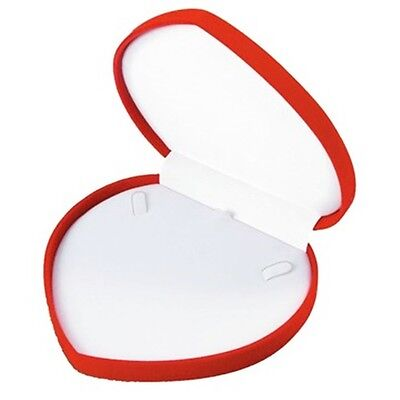 1 Red Velvet Heart Necklace Jewelry Display Packaging Gift Box