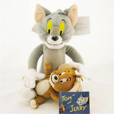 Tom and Jerry Plush Soft Toy Cute Stuffed Cartoon Anime Cat &Mouse Doll For Kids