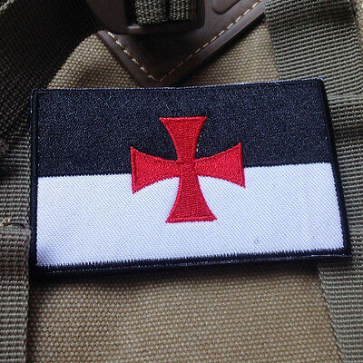 Cross Templar Crusaders Knights Christian Embroidery Us 3D Insignia Patch