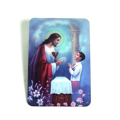 Holographic 3D Effect Lenticular Stereoscopic 1st Communion Jesus Holy Card Gift