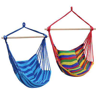 Canvas Hammock Hanging Rope Swing Chair Seat Hammock Bench Swinging Cushione