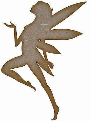 1 x MDF WOODEN FAIRY SHAPE 3mm LASER CUT WOOD CUTOUTS CRAFT DESIGN DECORATION