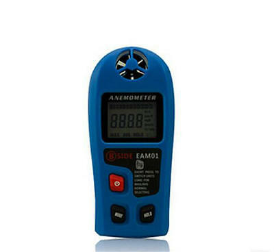 LCD 30m Portable Digital Anemometer Hand-held Air Velocity Wind Speed Meter