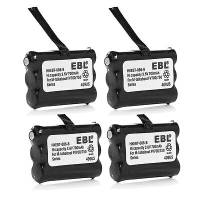 4x 3.6V 700mAh Battery For Motorola 2-Way Radio KEBT-086 KEBT-086-B 3XCAAA 53617