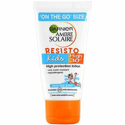 2 x Garnier Ambre Solaire Kids High Protection Lotion SPF30 50ml