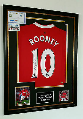 * NEW Wayne Rooney Signed Shirt Display *