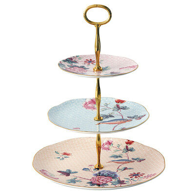 NEW Wedgwood Cuckoo Triple Tiered Cake Stand