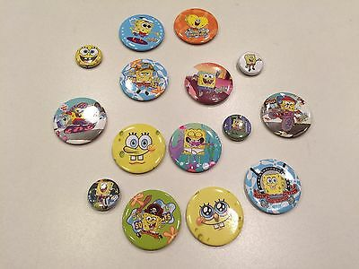Lot Of 15 New And Used Sponge Bob Pins