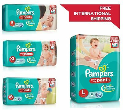 4 Pant-Pampers Diaper Baby Pant New Light Dry Disposable Soft Size-Medium-7-12KG