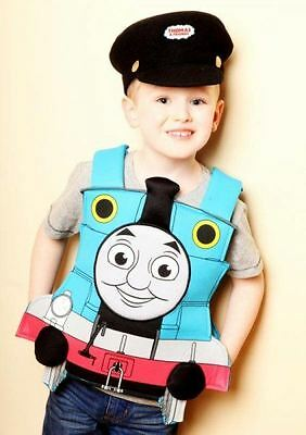 Boys Childrens Thomas the Tank Engine Tabard & Hat Fancy Dress Costume (Age 3-5)