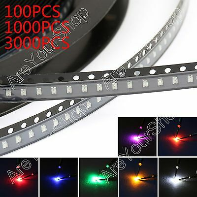 0805 SMD SMT LED Red Green Blue Yellow White Orange Purple 7Colour Licht Diode