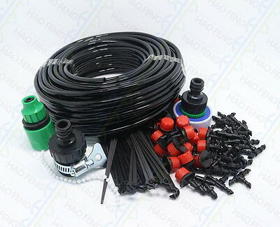 Automatic Irrigation System Micro Drip Self Watering Garden Hose Kit Connector