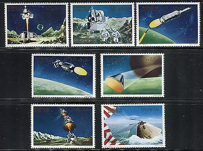 Somalia 1970 Us Space Exploration/astronauts/moon/planets/earth/platfrom/sea