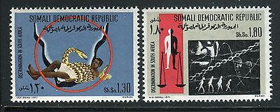 Somalia 1971 Racial Discrimination-South Africa Map/snake/concentration Camp/