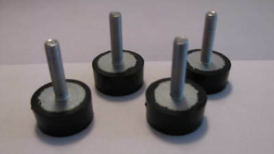 Set Of 4 Adjustable Rubber Leveling Feet 5/16-18 New!