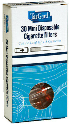 30 Mini Disposable Cigarette Filters | TarGard Holders Collect TAR