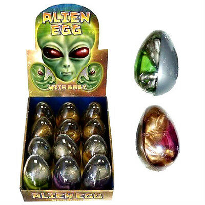 4 x Alien Eggs Twin Baby Embryo Baby Slime Jelly Pocket Money Toy Party Bag Gift
